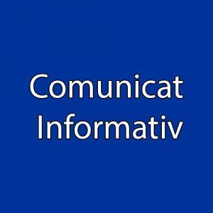 COMUNICAT INFORMATIV
