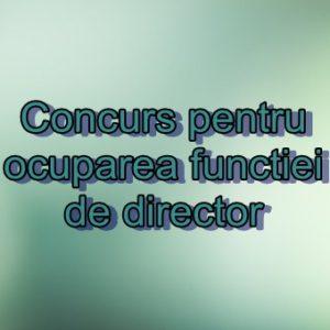Concurs pentru ocuparea funcției de director instituții preșcolare