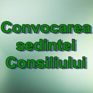 Convocarea ședinței Consiliului orășenesc Căușeni