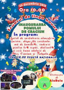 Inaugurarea pomului de Crăciun, 25 decembrie ora 10:00