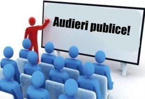 ANUNŢ privind organizarea audierilor publice a proiectelor de decizie