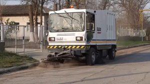 2020.04.15 Primăria Căușeni spală și dezinfectează străzile