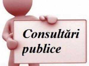 ANUNȚ privind organizarea consultării publice a proiectului de decizie